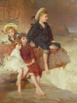 George Elgar Hicks - The Children of Sir Hussey Vivian at the Seaside