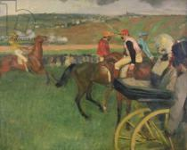 Edgar Degas - The Race Course - Amateur Jockeys near a Carriage, c.1876-87