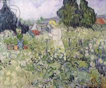 Vincent van Gogh - Mademoiselle Gachet in her garden at Auvers-sur-Oise, 1890