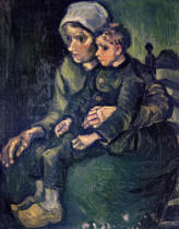 Vincent van Gogh - Mother and Child, 1885