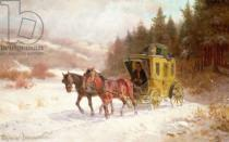 Fritz van der Venne - The Post Coach in the Snow
