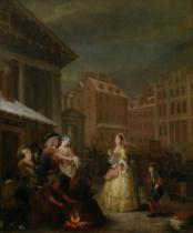 William Hogarth - The Four Times of Day: Morning, 1736