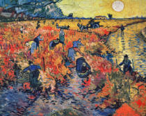Vincent van Gogh - Red Vineyards at Arles, 1888