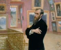 Ilya Efimovich Repin - Portrait of Pavel Tretyakov (1832-98) in the Gallery, 1901
