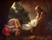 Anne-Louis Girodet de Roucy-Trioson - The Tomb of Atala, 1808