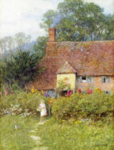 Helen Allingham - By the Cottage Gate