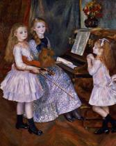 Pierre Auguste Renoir - The Daughters of Catulle Mendes at the piano, 1888
