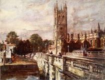 John Fulleylove - Magdalen Tower and Bridge, 1903
