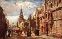 John Fulleylove - All Souls' College and the High Street, 1903