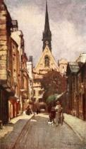 John Fulleylove - Exeter College Chapel, from Ship Street, 1903