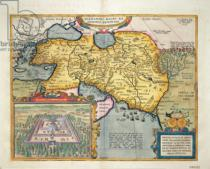 Abraham Ortelius - The Expedition of Alexander the Great, from the 'Theatrum Orbis Terrarum', 1603