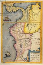 Joan Blaeu - Map of the gold-bearing regions in Peru, from the 'Atlas Maior, Sive Cosmographia Blaviana', 1662