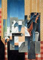 Juan Gris - Still Life with Violin and Guitar, 1913