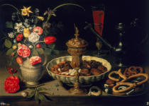 Clara Peeters - Still Life of Flowers and Dried Fruit, 1611