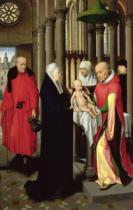 Hans Memling - Adoration of the Magi: Right wing of triptych, depicting the Presentation in the Temple, c.1470-72
