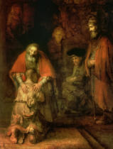 Harmensz van Rijn Rembrandt - Return of the Prodigal Son, c.1668-69