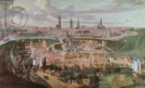 Lucas de Heere - Panoramic view of the city of Ghent at the end of the 16th century  88;Vue de Gand a la fin du XVIeme siecle;