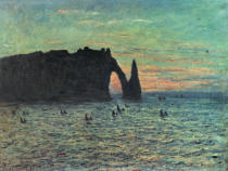 Claude Monet - The Hollow Needle at Etretat, 1883