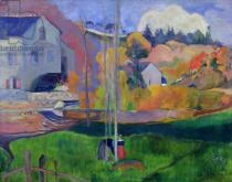Paul Gauguin - Brittany Landscape: the David Mill, 1894