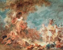 Jean-Honore Fragonard - Rinaldo in the garden of the palace of Armida