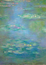 Claude Monet - Waterlilies, detail, 1903