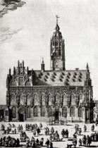 English School - The Stadhuis, Middelburg, as it was in the 16th century, from 'A Short History of the English People' by J. R. Green, published