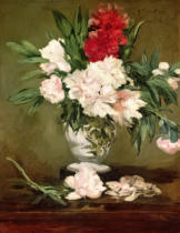 Edouard Manet - Vase of Peonies on a Small Pedestal, 1864