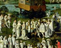 French School - Detail of The Garden of Love at the Court of Philip the Good, in the Gardens of the Chateau de Hesdin in 1431