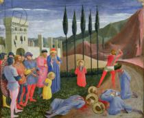 Fra Angelico - The Martyrdom of St. Cosmas and St. Damian, from the predella of the San Marco altarpiece, c.1440