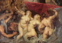 Peter Paul Rubens - Detail of the Sirens from 'The Arrival of Marie de Medici in Marseilles', 3rd November 1600, 1621-25