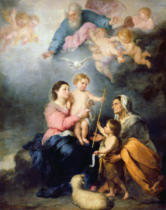 Bartholomé Estéban Murillo - The Holy Family or The Virgin of Seville