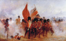 Lady Butler - Scots Guards saving the Colours at Alma, 1854, 1899