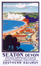Kenneth Shoesmith - Seaton, Devon, poster advertising Southern Railway