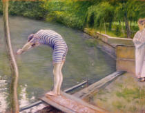 Gustave Caillebotte - The Bather, or The Diver, 1877