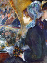 Pierre Auguste Renoir - At the Theatre , 1876-7
