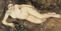 Pierre Auguste Renoir - A Nymph by a Stream, 1869-70