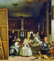 Diego Rodriguez de Silva y Velasquez - Las Meninas or The Family of Philip IV, c.1656