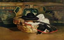 Edouard Manet - Still Life: Guitar and Sombrero, 1862