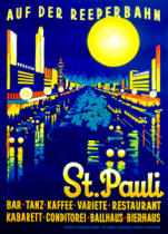German School - 'On the Reeperbahn, St. Pauli', poster advertising Hamburg, 1936