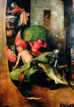 Hieronymus Bosch - The Last Judgement : Detail of the Cask