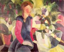 August Macke - Girl with a Fish Bowl, 20th century