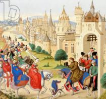 French School - Entrance of Queen Isabeau of Bavaria into Paris, June 20, 1389, from 'Les Arts au Moyen Age', published 1873