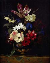 Willem van Aelst - Still life with flowers