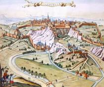 Joan Blaeu - Luxembourg, the capital of the Duchy, 1649
