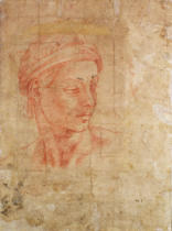 Michelangelo Buonarroti - Study of a Head