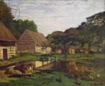 Claude Monet - A Farmyard in Normandy, c.1863