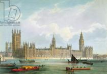 Edmund Walker - The New Houses of Parliament, engraved by Thomas Picken published by Lloyd Bros. & Co., 1852