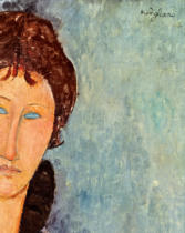 Amedeo Modigliani - Detail of Woman with Blue Eyes, c.1918
