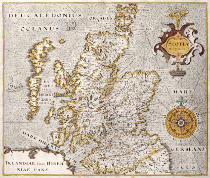 Anonymous - Map of the Kingdom of Scotland, 17th century Scotia Regnum