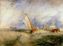 Joseph Mallord William Turner - Van Tromp going about to please his masters-ships at sea getting a good wetting, from Vide Lives of the Dutch Painters, 1844